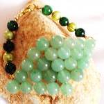 Pearl & Aventurine Green Ti..