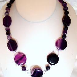 Purple Agate Necklace handmade