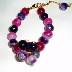 Pink and Purple Agate Bracelet