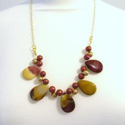 Mookite and Shell Pearl Necklace